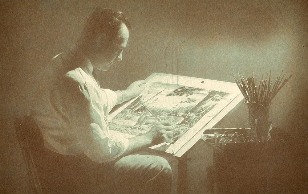 Les Kouba painting another wildlife masterpiece