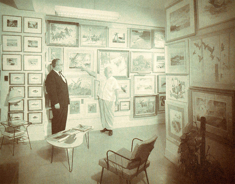 Jimmy Robinson was a frequent visitor at Les Kouba's Gallery