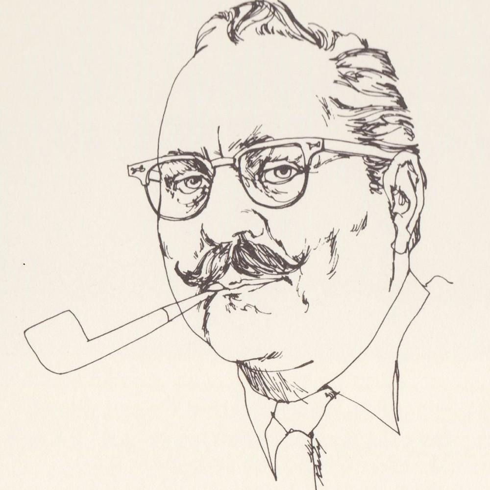 Les Kouba Sketch with Pipe